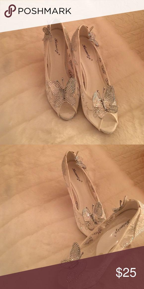Butterfly bling heels Butterfly bling heels Shoes Heels