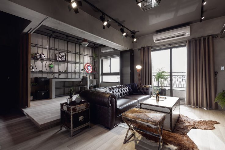 Man Cave Apartment : Perfect balance achieved for an industrial bachelor pad