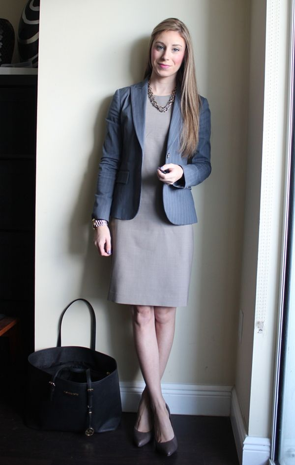 Professionally Petite: Blue & Taupe & Ann Taylor Shoes