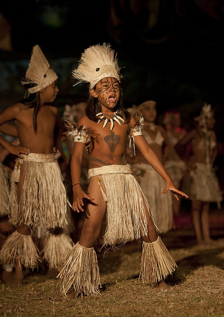 Dances During Tapati Festival In Hanga Roa, Easter Island, Chile by Eric Lafforgue,