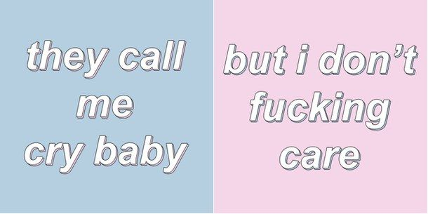 aesthetic, cry baby, melanie martinez, pale, pastel, pastel blue, pastel pink, quotes, ️bambi