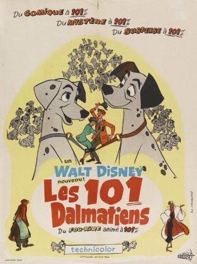 Affiche du dessin animé Les 101 Dalmatiens sortie en 1961