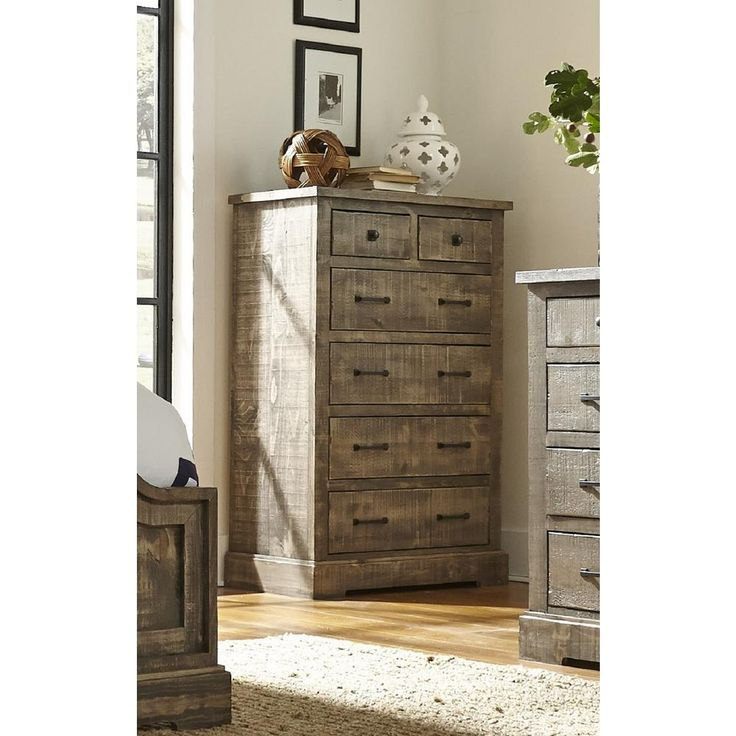Progressive Furniture Meadow 6-Drawer Weathered Gray Chest P632-14
