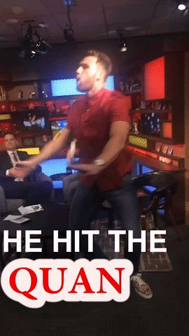 funny dancing nfl chiefs fox sports live jay and dan travis kelce #gif from #giphy
