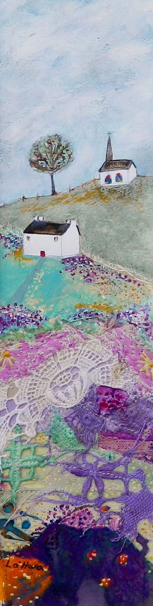 The chapel on the hill by Louise O'Hara   https://www.pinterest.com/louiseOHaraArt/my-work/