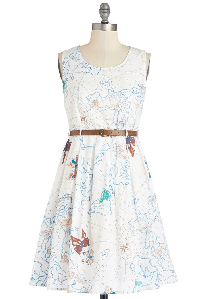 Map Time Dress, #ModCloth would be perfect for my library of congress presentation