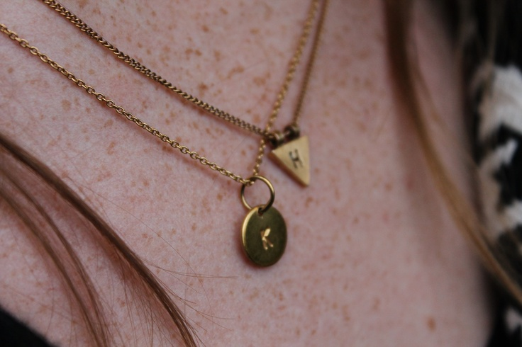 K and H necklace