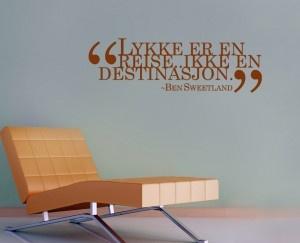 Lykke er en reise, ikke en destinasjon