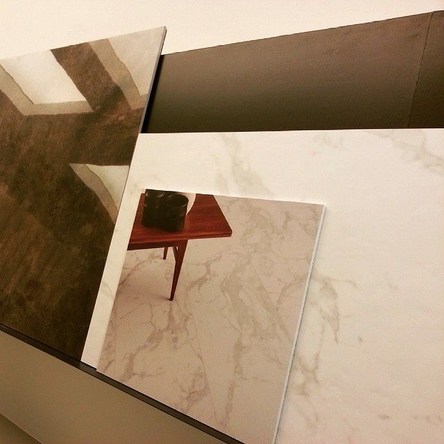 MARMOCREA: glossy and natural finish #tiles #designtiles #H2OttoMilano #showroom #opening#newopening