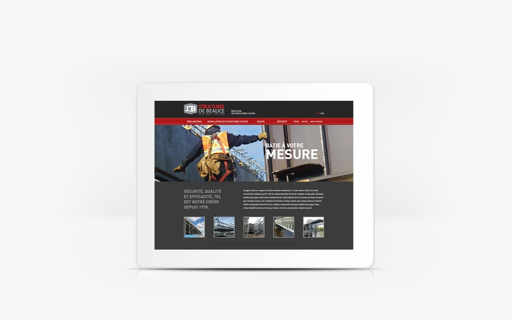Structures de Beauce | www.structuresdebeauce.com | Site Web | Team Marketing • Web • Design