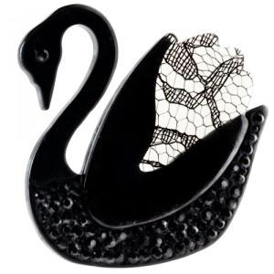 The Swan Brooch by Erstwilder