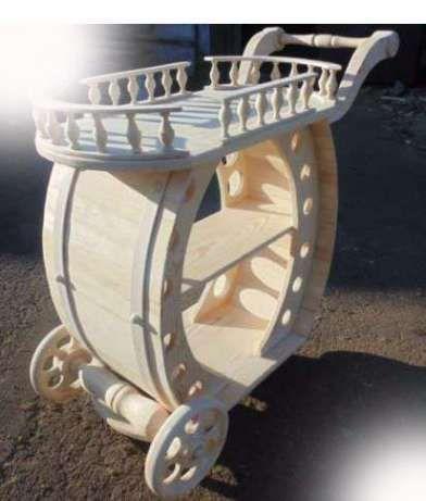 Тележка бар, деревянный мини-бар ручная работа Житомир - изображение 5
