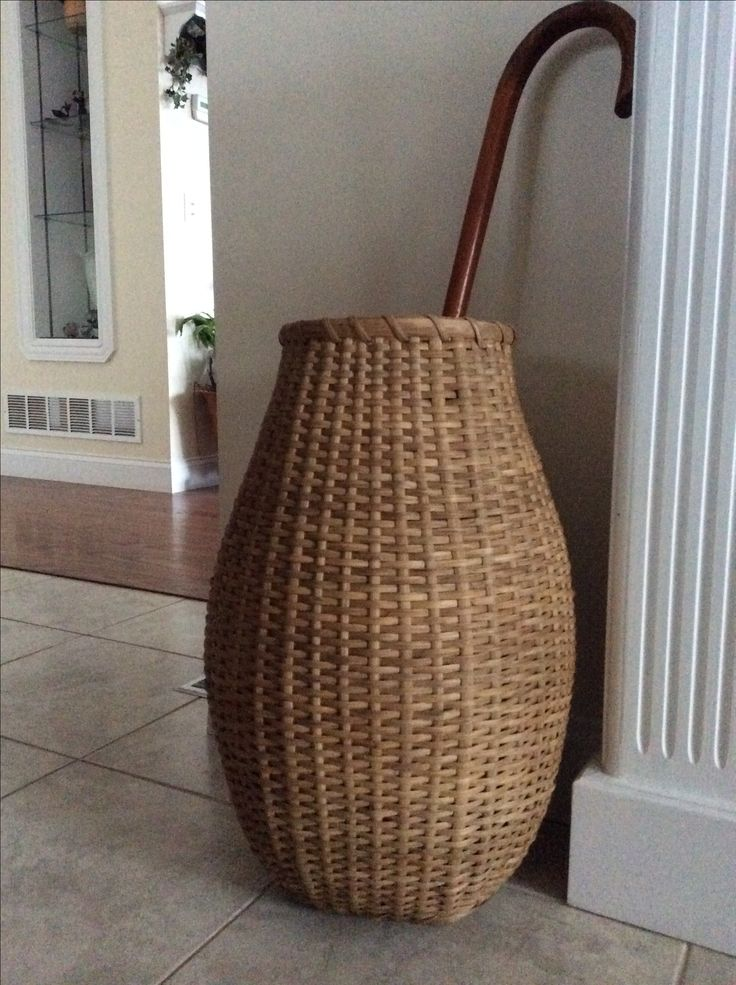Basket I made to hold canes and walking sticks