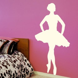 stickers danseuse en tutu decoration ballerine adhesif danseuse toile petit rat de l 39 op ra. Black Bedroom Furniture Sets. Home Design Ideas