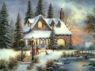 Thomas Kincade.....A Christmas visit