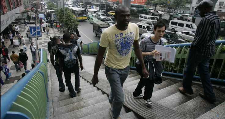 """Estimates for the number of sub-Saharan Africans in Guangzhou (nicknamed """"Chocolate City"""" in Chinese) range from 150,000 long-term residents, according to 2014 government statistics, to as high as 300,000.  Many of them partner with Chinese firms to run factories, warehouses, and export operations. Others are leaving China and telling their compatriots not to go due to financial challenges and racism."""