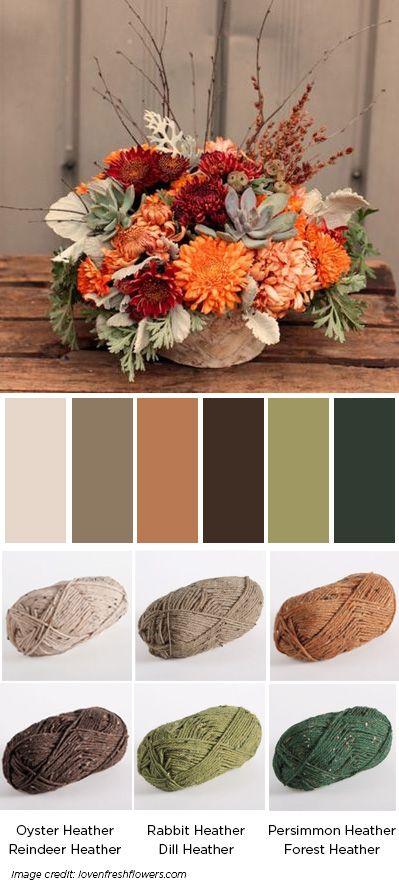 WOTA bouquet - Favorite Fall Colors - blog.knitpicks.com/weblog/favorite-fall-colors/
