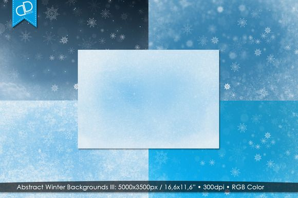Abstract Winter Backgrounds III by cDDesign on Creative Market