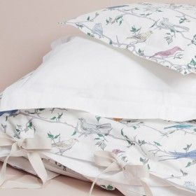 Garbo and Friends Birds Cotbed Bedding Set | Nubie - Modern Baby Boutique