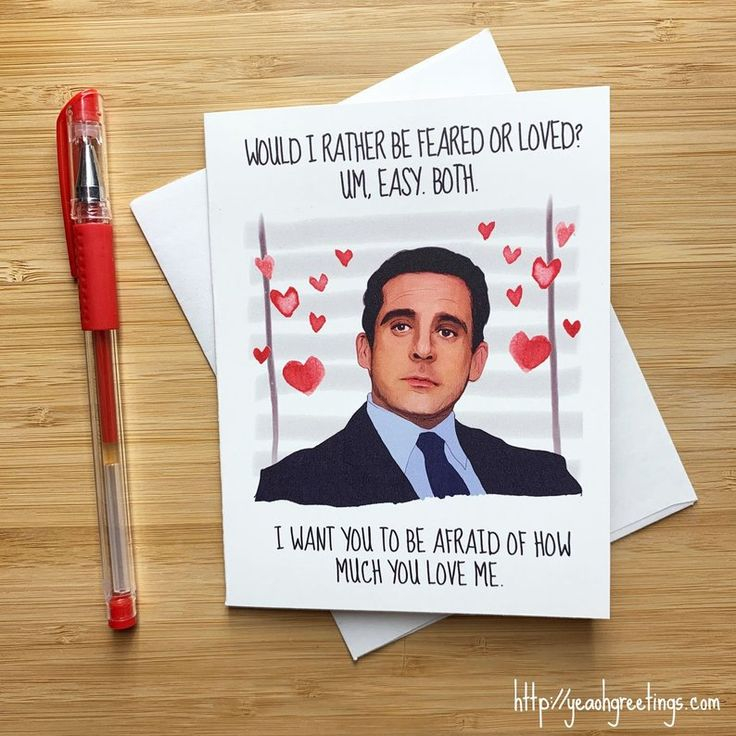 Funny Michael Scott Love Card, The Office Gift, Michael Scott Valentine Card, Funny Valentine Day Humor, Handmade Cards, Anniversary Gift