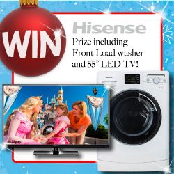 We're giving our Facebook Fans the chance to WIN this Happy Hisense Christmas Prize!Don't forget to SHARE the news with all your friends!
