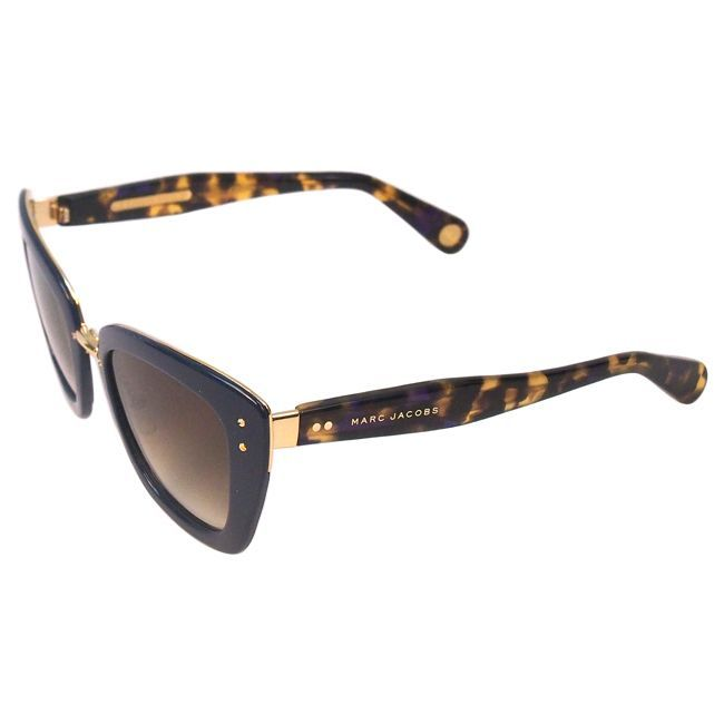 Marc Jacobs Women's MJ 506/S ONUCC Blue Gold Havana/ Brown Shaded Cateye Sunglasses - Overstock™ Shopping - Big Discounts on Marc Jacobs Fashion Sunglasses