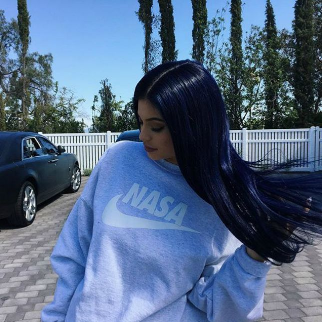 Kylie Jenner's New Hair Is a Glam Take on This Fun Instagram Trend via Brit + Co