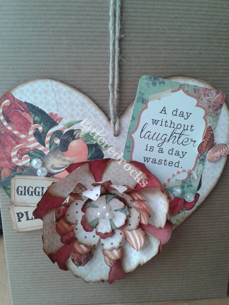 Tattered floral. No longer make these using pre-bought sentiments or images.