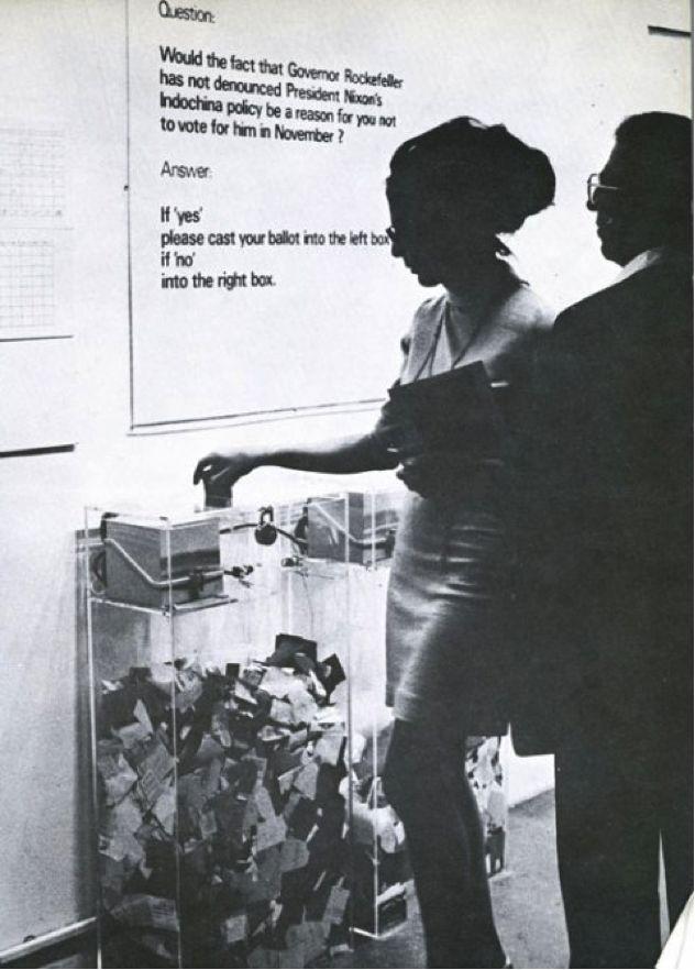 Hans Haacke, MoMa Poll, 1970.