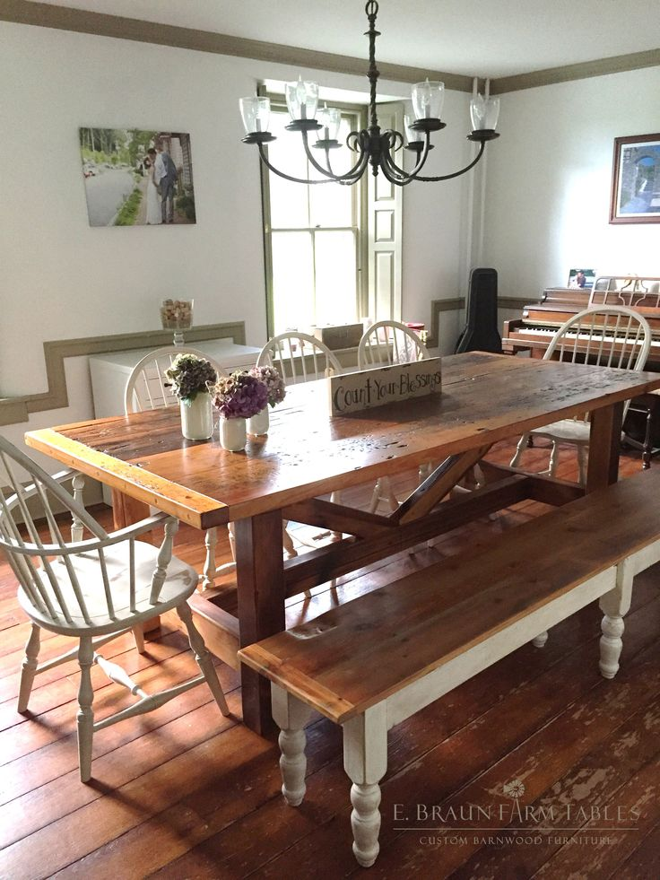 This Sawbuck Table Handcrafted Of Reclaimed Barn Wood Is A Perfect  Complement To This Beautiful Old