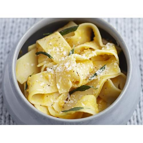 Roasted pumpkin, sage and garlic pappardelle recipe - By Australian Women's Weekly