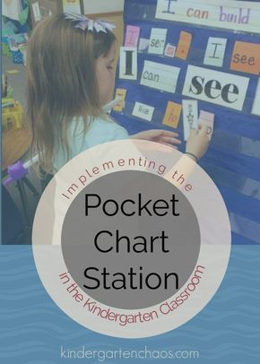 The Pocket Chart Station in the Kindergarten Classroom
