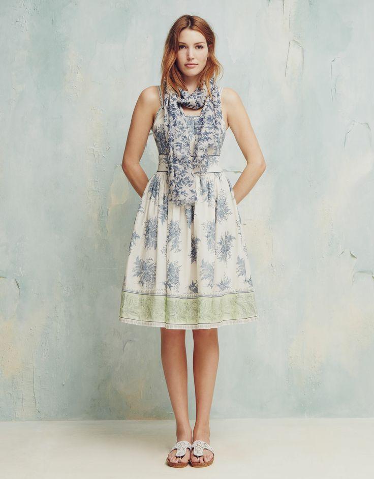 Tiffany Printed Dress | Ivory | Monsoon