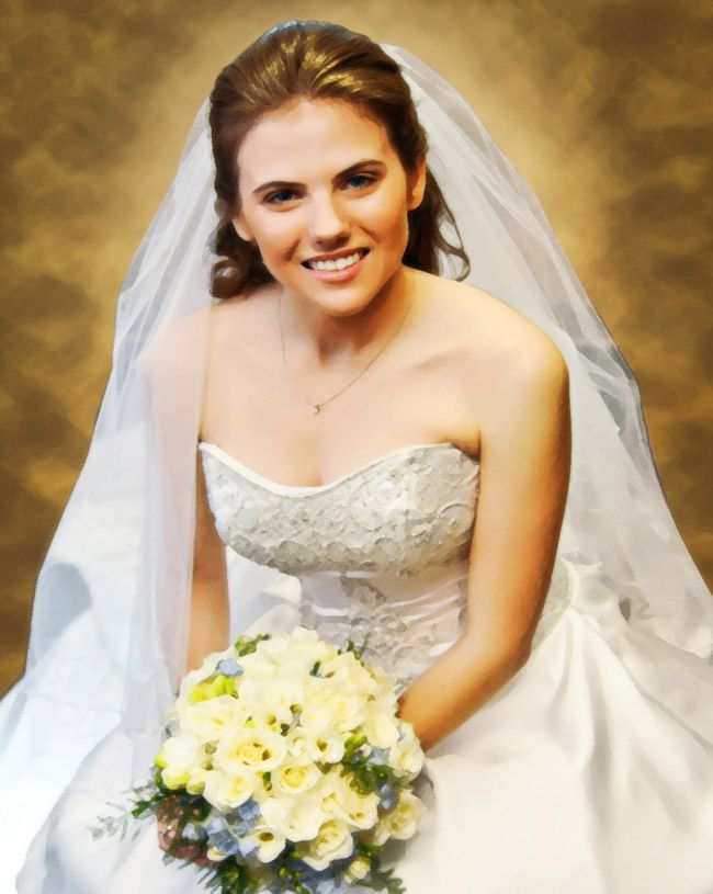 11 best Customized Wedding Dress oil painting images on Pinterest ...