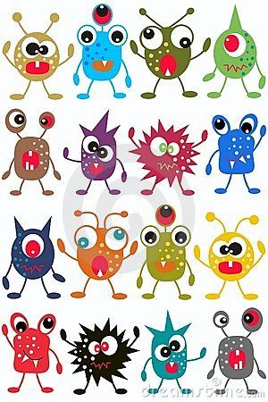 Seamless Monster Pattern Stock Photo - Image: 18738060--pinning just for the monster faces.