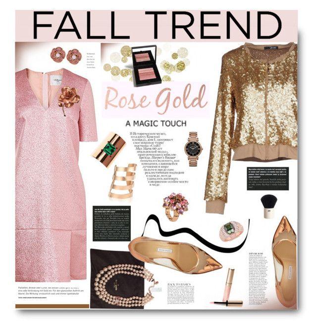 """Fall Jewelry Trend: Rose Gold"" by hamaly ❤ liked on Polyvore featuring LIU•JO, Betsey Johnson, Michael Kors, Augustine Jewels, IaM by Ileana Makri, Kate Spade, Bionda Castana, Bobbi Brown Cosmetics, Anja and Prada"