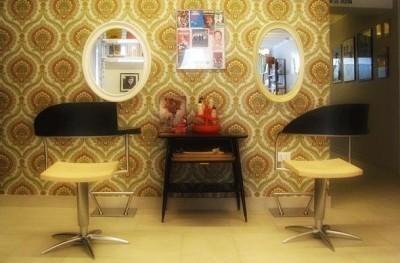 Vintage Style in Blow Hair Salon (zero impact salon)