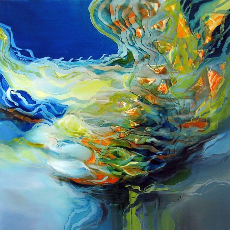 """Saatchi Art Исполнитель Alison Johnson;  Картина """"Ловля рыбы"""" #art  3929 $"""