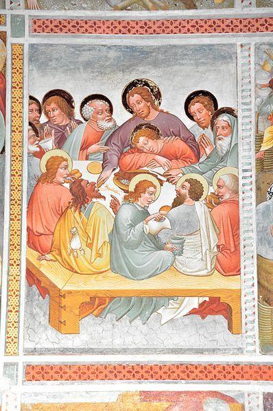 Last Sup[per -- File:Steinfeld Gerlamoos Filialkirche heiliger Georg Freske 18 Letztes Abendmahl 20122012 978.jpg
