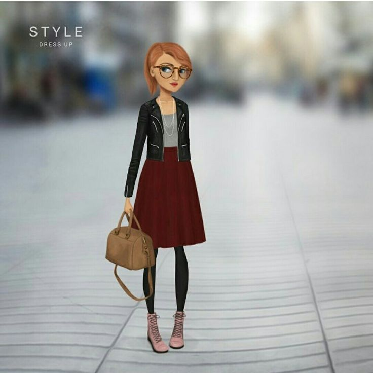 Cute style made by a user in Style Dress up, available on App store and Google Play store.