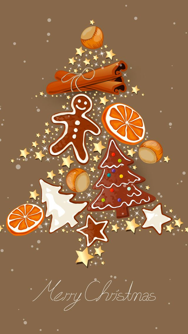 CHRISTMAS TREE GOODIES, IPHONE WALLPAPER BACKGROUND