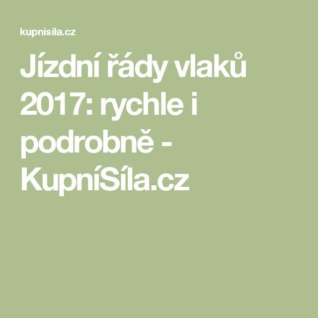 Jízdní řády vlaků 2017: rychle i podrobně - KupníSíla.cz