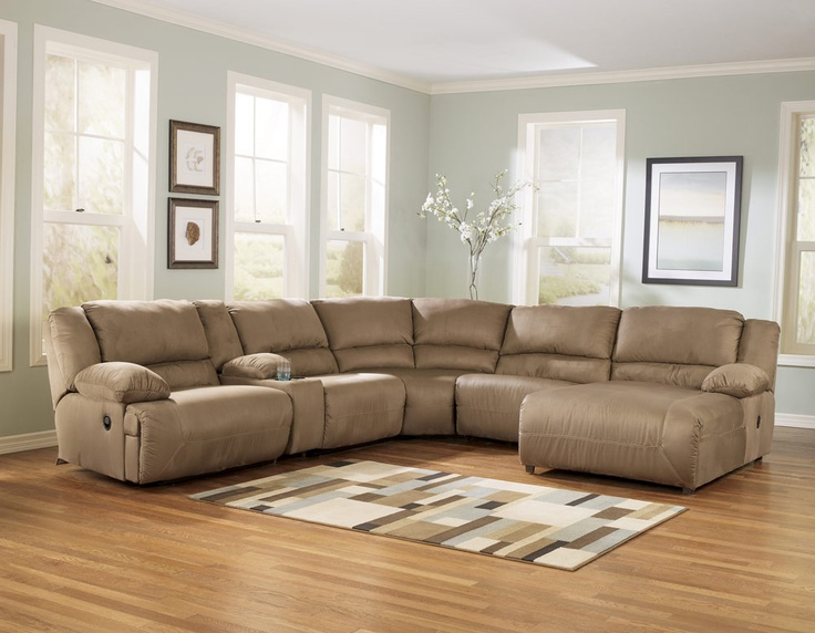 Ashley Furniture   Hogan Our New Sectional For The Basement!