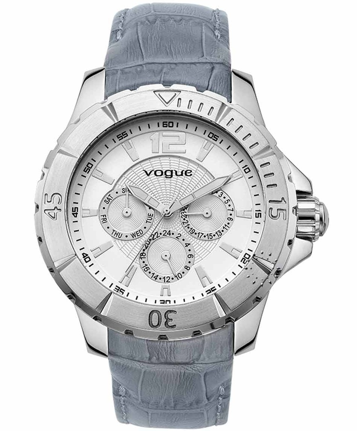 VOGUE City Grey Leather Strap  Τιμή: 205€  Αγοράστε το εδώ:  http://www.oroloi.gr/product_info.php?products_id=31589