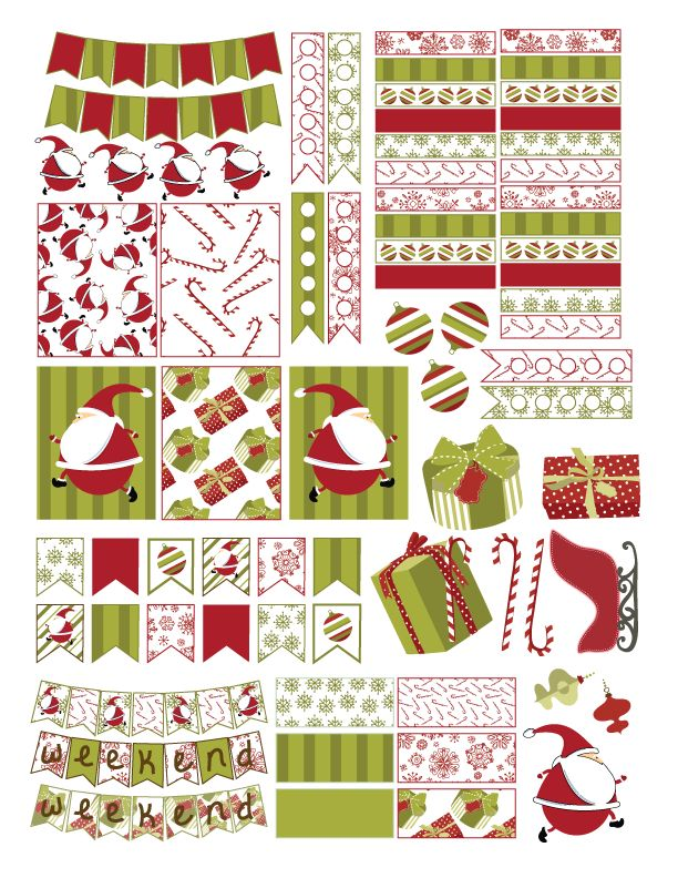 Free Christmas Planner Sticker Printable                                                                                                                                                                                 More