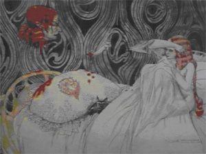 Gustav-Adolf Mossa : Salomé : les mains coupées, 1904, aquarelle, Nice, musées beaux arts