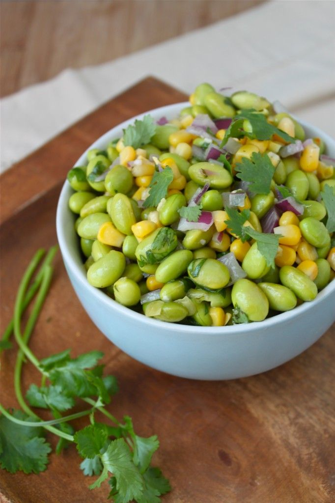 Cilantro and edamame salad! Super yum! I was skeptical of the raw onion but it was seriously delicious.
