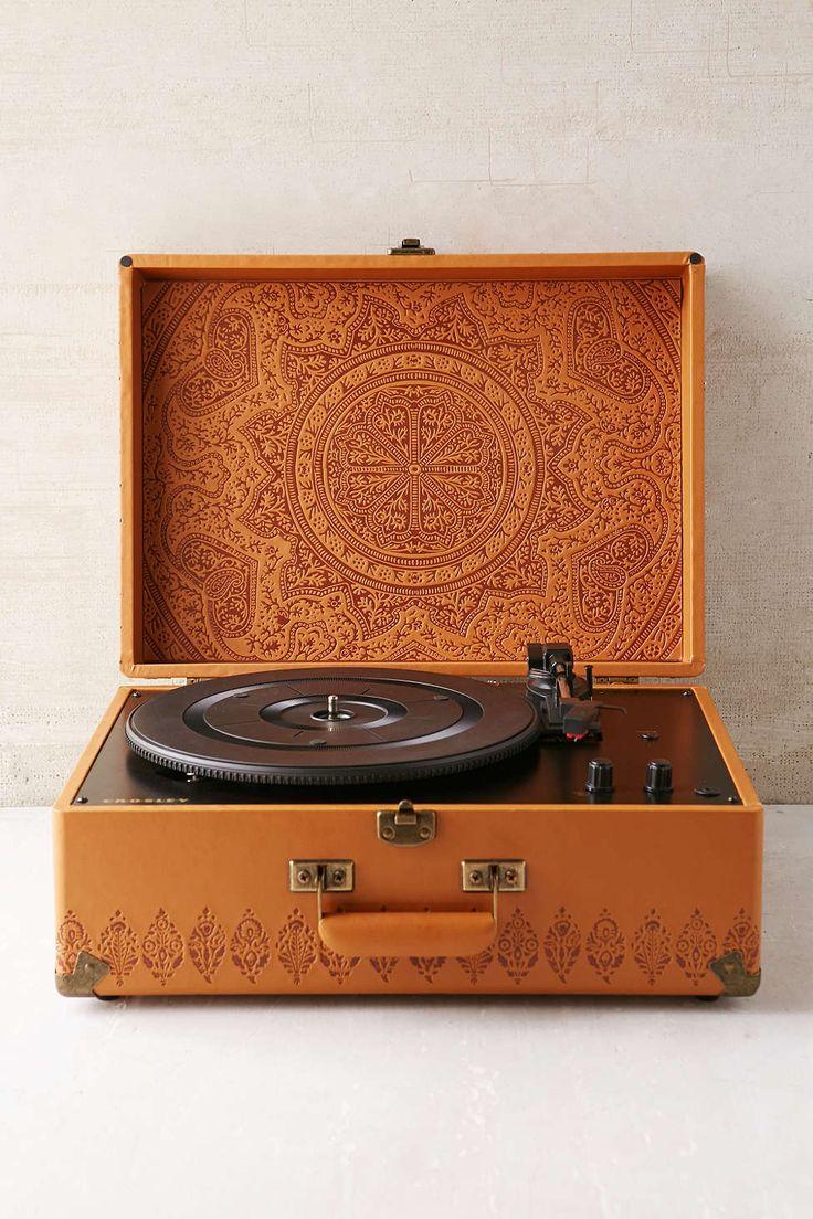 Crosley X UO AV Room Embossed Portable USB Vinyl Record Player - so retro-looking... Need one!
