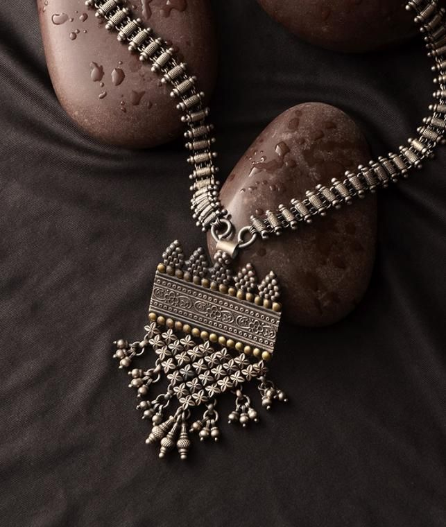 Buy Tribal Treasures Jewels You Desire Enchanting tribal silver jewelry for that rustic charm Online at Jaypore.com