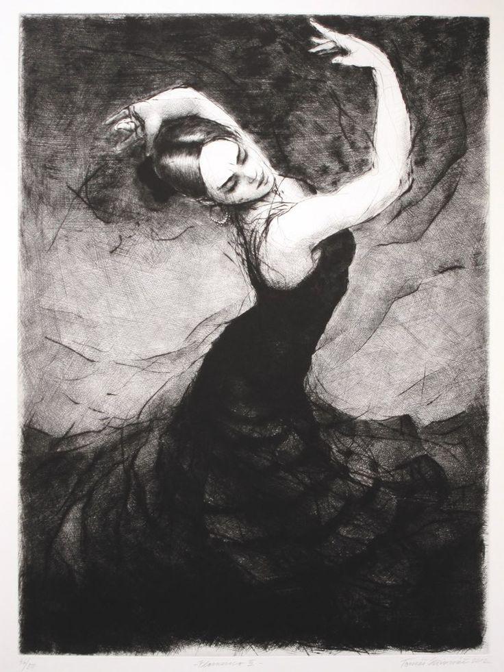 Tomáš Hřivnáč - Flamenco III - suchá jehla - Galerijní ulice v Jistebníku - Ostrava - Moravskoslezský kraj